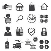 E Commerce, Online Shop, Shopping, Icons Set — Stock Vector