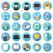 School, Education Icons Set — Stock Vector