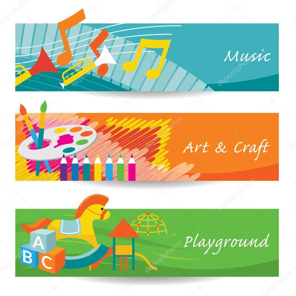 M sica arte juegos para jard n de infantes banner for Canciones para jardin de infantes