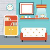 Furniture Display in Room : Living Room — Vector de stock