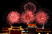 Beautiful New Year Celebration Fireworks — Stock Photo