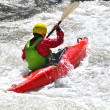 White water kayaking as extreme and fun sport — Stock Photo #58487775