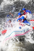 River Rafting as extreme and fun sport — Stock Photo