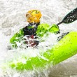 White water kayaking as extreme and fun sport — Stock Photo #58490819