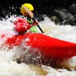 White water kayaking as extreme and fun sport — Stock Photo #58497997