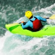 White water kayaking as extreme and fun sport — Stock Photo #58498907