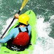 White water kayaking as extreme and fun sport — Stock Photo #58501433