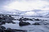 Winter fjords landscape, captured in northern Norway — Foto de Stock