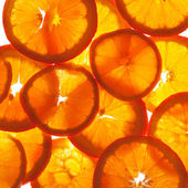 Orange cross sections — Stock Photo
