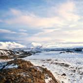 Paesaggio invernale autunno dall'Islanda — Foto Stock