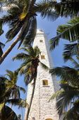 White lighthouse Dondra Head — Stock Photo