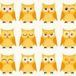 Seamless owls birds pattern — Stock Vector #58430859