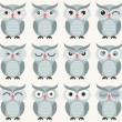 Seamless owls birds pattern — Stock Vector #58430901