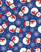 Snowman seamless pattern — Stock Vector