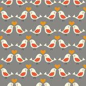 Seamless birds kiss background — Stock Vector