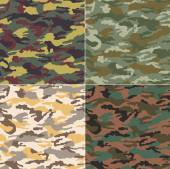 Seamless camouflage pattern — Stock Vector