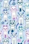 Cat seamless pattern — Stock Vector