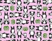 Wzór Panda — Wektor stockowy