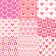 Hearts patterns — Stock Vector #59160795