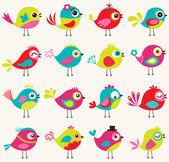 Seamless birds pattern — Stock Vector