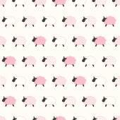 Sheep cartoon pattern — Stock Vector