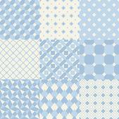 Blue wallpaper patterns — Stock Vector