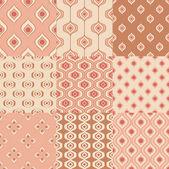 Geometric wallpaper patterns — Stock Vector