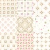 Retro geometric patterns — Stock Vector