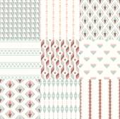 Wallpaper patterns set — Stock Vector