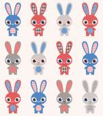 Rabbits wallpaper — Stock Vector