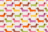 Cute dogs pattern — Stock Vector