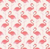 Flamingo birds pattern — Stock Vector