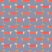 Dachshund dogs pattern — Stock Vector