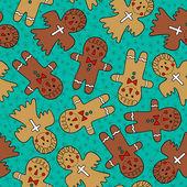 Gingerbread men — Stock Vector