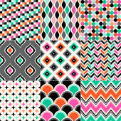 Vivid geometric patterns — Stock Vector