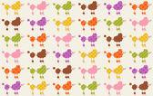 Dogs cartoon pattern — Stock Vector