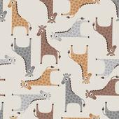 Giraffe cartoon pattern — Stok Vektör