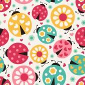 Ladybugs background — Stock Vector