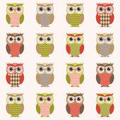 Owls wallpaper — Stock Vector