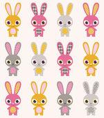 Modello di conigli — Vettoriale Stock