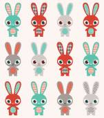 Rabbits wallpaper — Vettoriale Stock