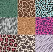 Wild animals print pattern — Stockvector
