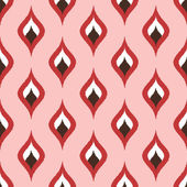 Curve ornament scribble pattern pink — Stockvektor