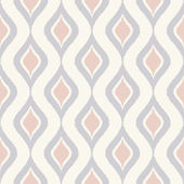 Curve ornament scribble pattern cream — Stockvektor