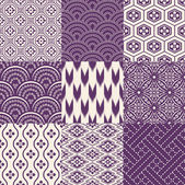 Purple Japanese traditional mesh — Stock Vector