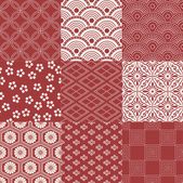 Red Japanese traditional mesh — Stock Vector