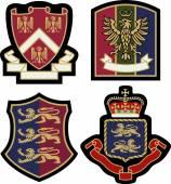 Set of classic heraldic royal emblem — Stock Vector
