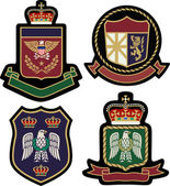 Set of classic heraldic royal emblem — Stockvector