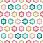 Seamless floral geometric pattern — Stock Vector