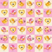 Birds love pattern — Stock Vector